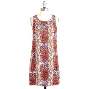 ModCloth Sunny Girl paisley shift dress